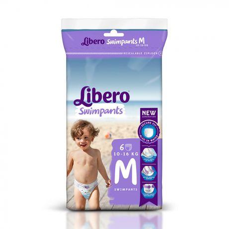 Подгузники-Трусики для бассейна Libero Swimpants Medium 10-16 кг, 6 шт