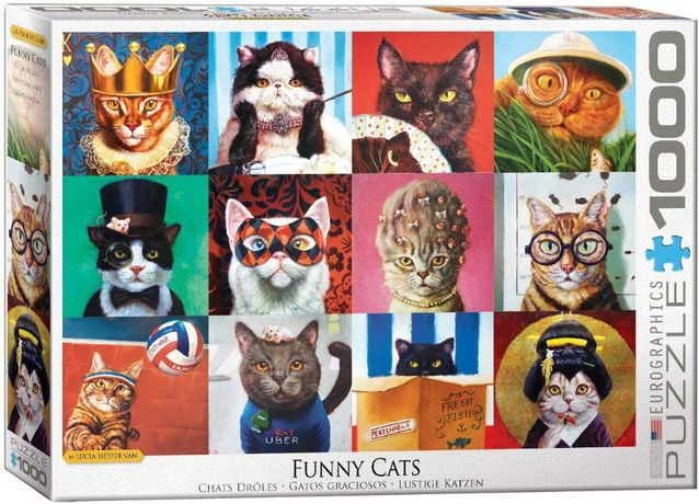 Puzzle Eurographics 1000 Peças 5522 Funny Cats - NOVO