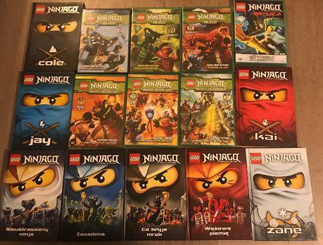 LEGO Ninjago 8 książek + 7 dvd. Stan Dobry. Swietna Oferta.