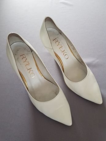 Buty ślubne białe Ryłko rozm.36
