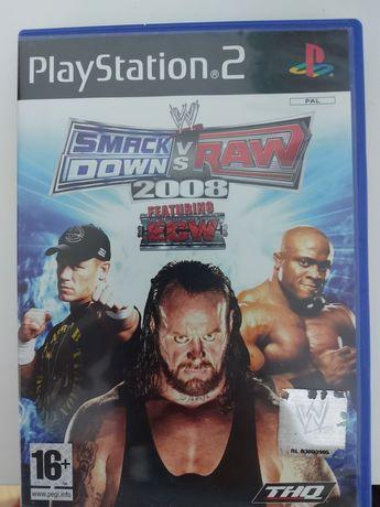 Jogo Smackdown vs Raw 2008 PS2