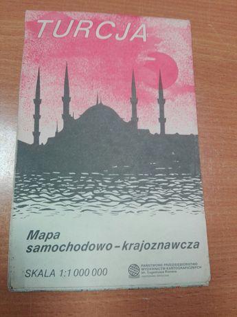 Turcja Mapa samochodowo -krsajoznawcza