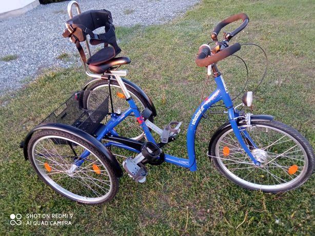Rower rehabilitacyjny MOMO nowy inwalidzki trójkołowy trajka koła 26''