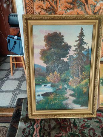 Obraz olejny mały i duży