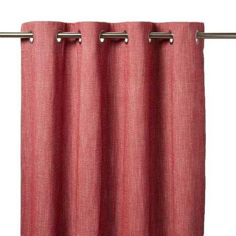 Zasłona GoodHome Tiga 140 x 260 cm czerwona