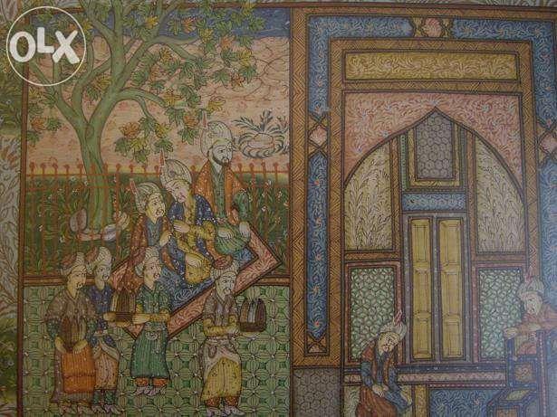 Quadro indiano pintado em seda