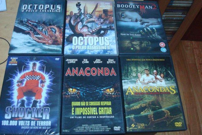 16 dvds originais terror,sharknado,,mangler,anaconda etc