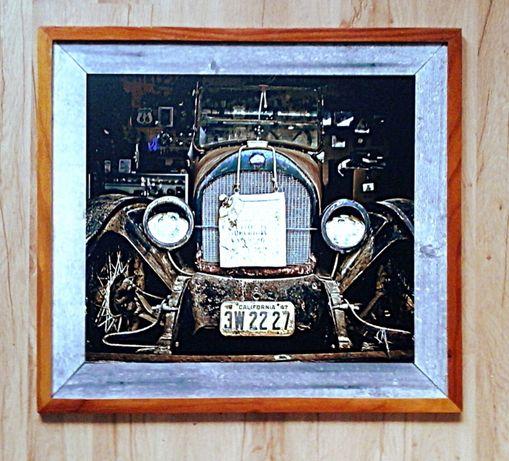 Obraz grafika w ramie, auto, samochód - Portret przodka *