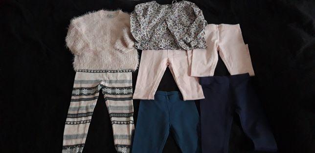 Zestaw ciepłych ubranek dla dziewczynki 98 104