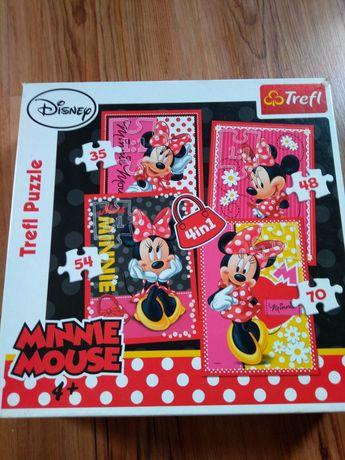 Puzzle Myszka Minnie 4 plansze