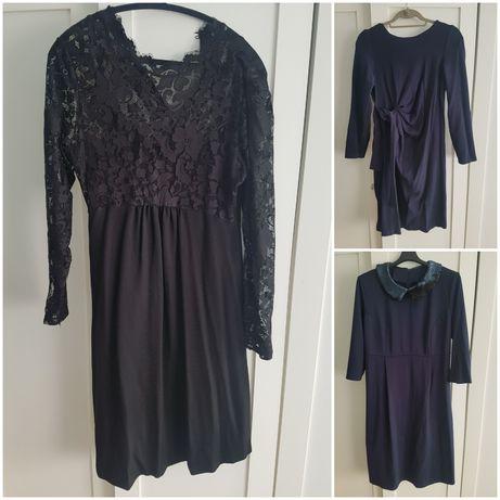 3 sukienki ciążowe L
