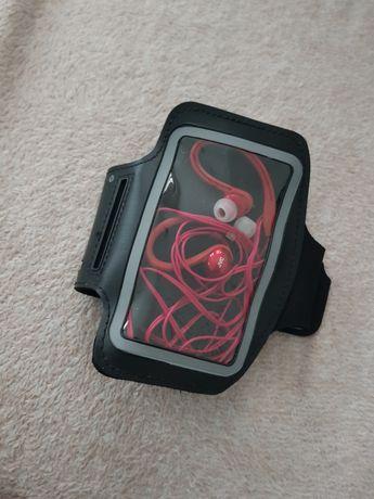 Opaska na telefon do biegania + słuchawki