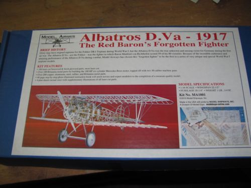 Kit Avião modelismo Albatros 1917 escala 1/16 da Model Airways