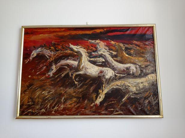 Cavalos impressionismo Manuel Gregório Pereira
