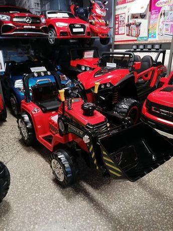 Traktor Koparka z łyżką na akumulator dla Dzieci pilot dla rodzica