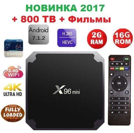 Smartr Iptv X96 mini 2gb-16gb S905W Андроид Смарт ТВ приставка 2490руб