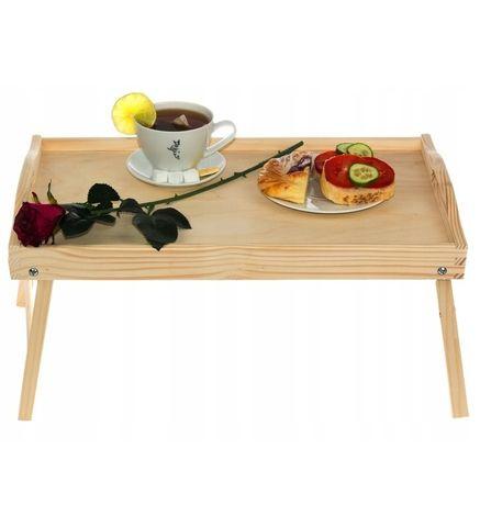 Stolik śniadaniowy drewniany NATURALNY
