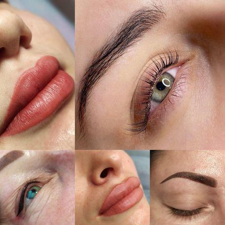 Перманентный макияж глаз, губ, бровей. Ламинирование ресниц