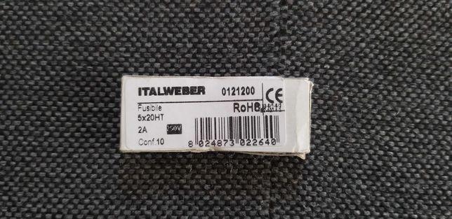 Bezpiecznik ceramiczny cylindryczny 5x20HT 2A 250V Italweber