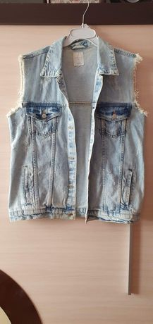 Kamizelka jeansowa/ bezrękawnik jeansowy
