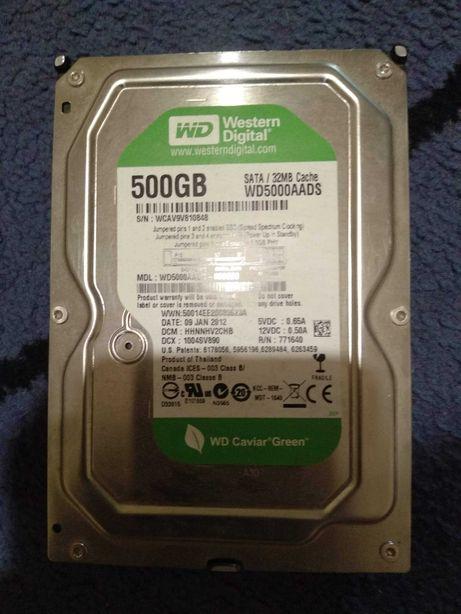 Жесткий диск на 500gb, WD Green.