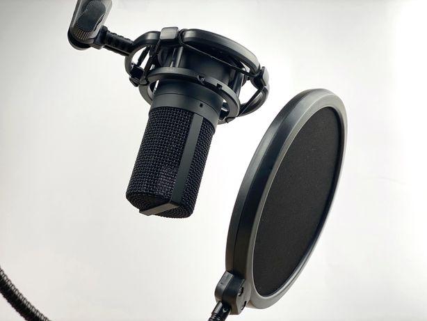 Студийный микрофон FIFINE T669 BLACK со стойкой и поп-фильтром