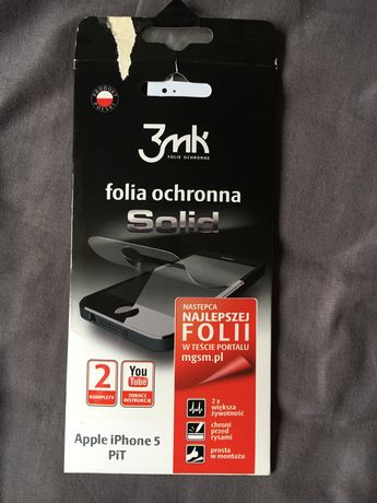 Folia ochronna Solid iPhone 5 nowa
