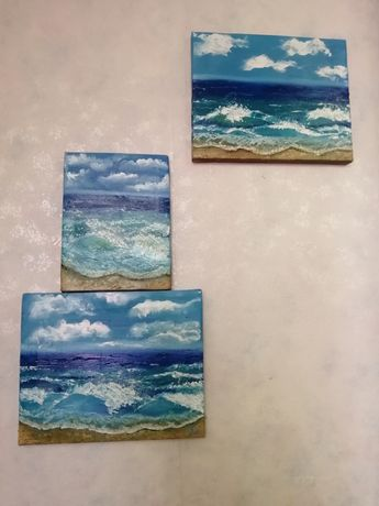 Картины маслом, море, холст, хороший подарок