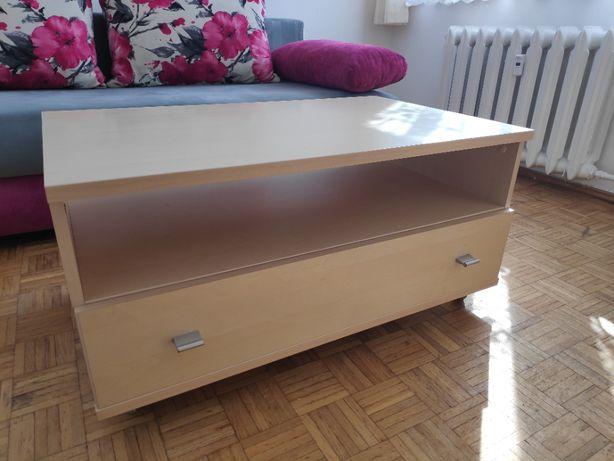 Szafka na kółkach RTV kolor klon, jasna z szufladą, stolik, komoda