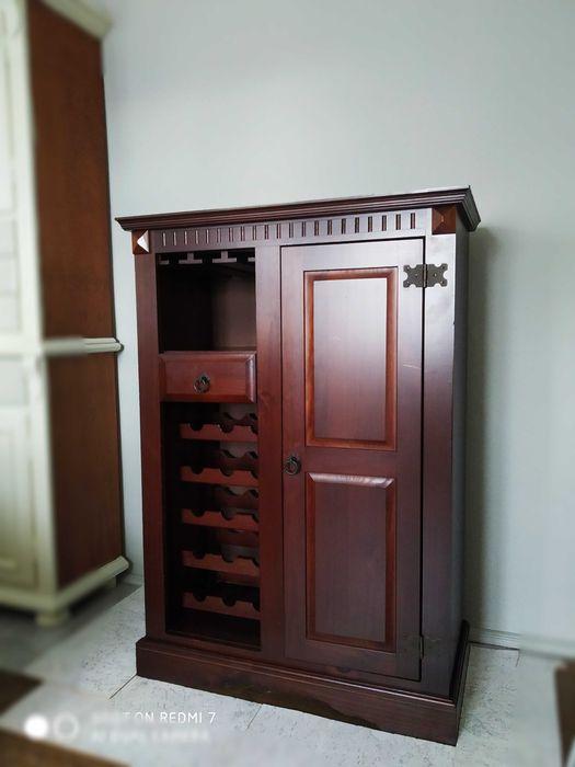 WYJĄTKOWA Drewniana WINIARKA kolonialna komoda szafka witryna Niepołomice - image 1