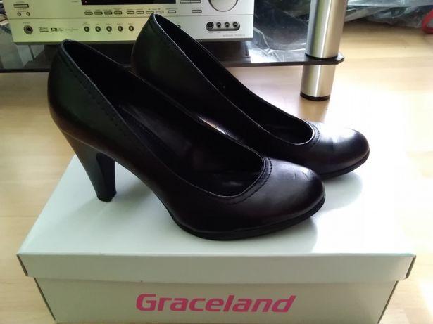 Buty na obcasie czarne Graceland Deichmann 37