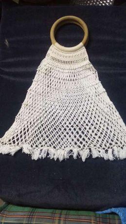 Bolsa em crochet vintage