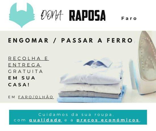 Engomar, Passar roupa a ferro - Recolha/Entrega em Casa (Faro e Olhão)