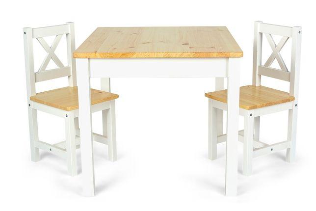 Drewniany stolik z 2 krzesełkami dla dzieci POLA 102/246260