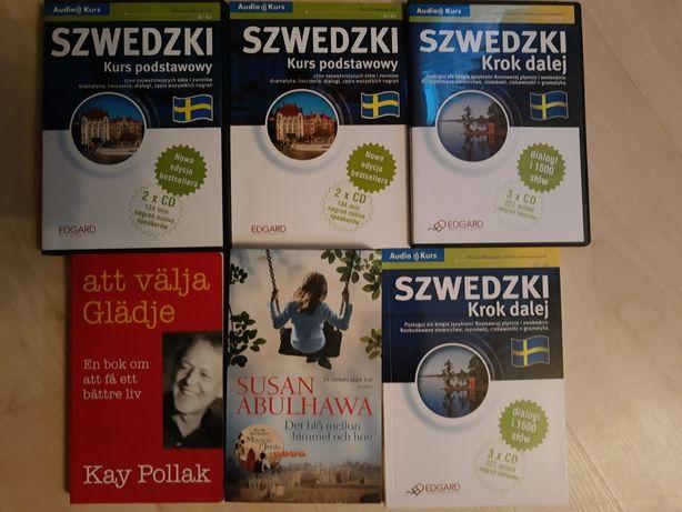 Język szwedzki Edgard podstawowy i krok dalej plus dwie książki