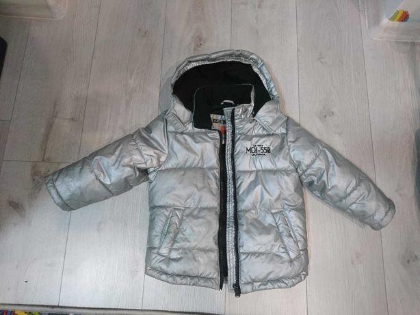 Куртка серебристая на малыша 3-4года