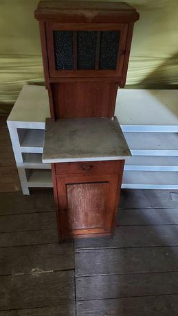 Witryna szafka z marmurowym blatem