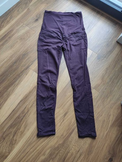 Spodnie ciążowe H&M Mama r. 42 L bawełna wiskoza elastan