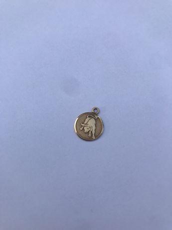 Zawieszka złota BYK zodiak wisiorek złoto 585 vintage stylowa