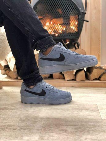 Мужские зимние кроссовки Nike Air Force Grey Fur   Найк 40-45   Адидас
