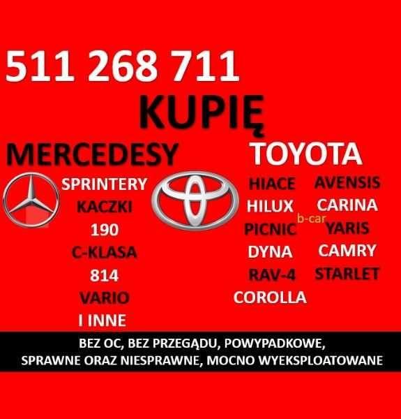 Skup aut MERCEDESÓW Mercedes 814 Sprinter Kaczka TOYOT Toyota Avensis