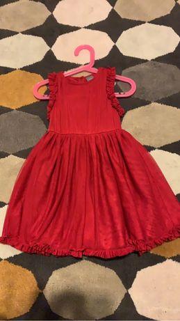 Sukienka tiul falbany Next czerwona r 98