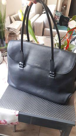 Nowa duza torba skorzana Lipault Paris