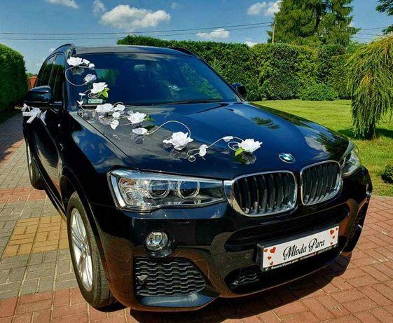Auto, samochód do ślubu, czarne BMW