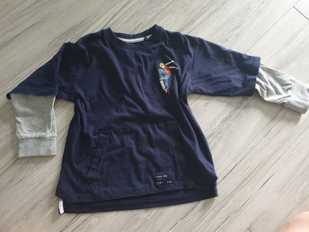 Bluzka Reserved 110 podwójny rękaw skate