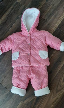 Kombinezon zimowy dziecięcy, kurtka, spodnie r. 74