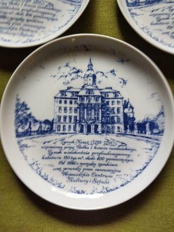 Talerzyki dekoracyjne z Zamkiem Książ