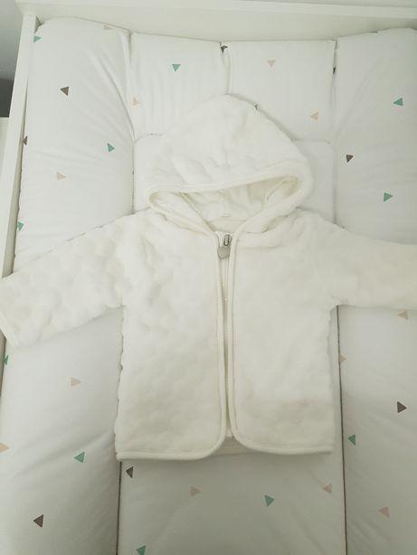 62 bluza polar mis pikowana biała smyk