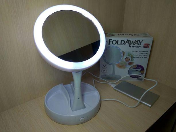 Зеркало с led подсветкой настольное для макияжа дзеркало для макіяжу