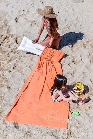 Toalha de praia com bolso